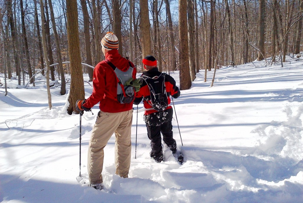 Snowshoeing with Source Spinner