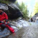 Canyoning-professional Laurent Poublan where he feels most at home