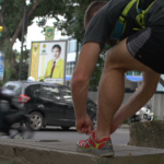 Richard Bowles in Medan Sumatra Running