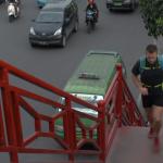 Richard Bowles in Medan Sumatra Running Stairs