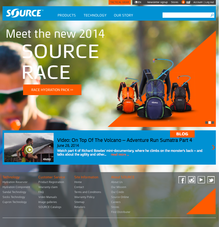 Welcome to all new SourceOutdoor.com!
