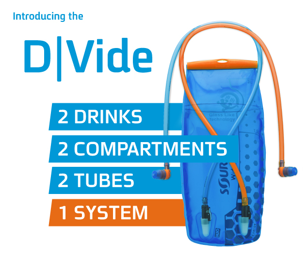 Introducing the D|vide - 2 Drinks in 1 SOURCE Hydration System
