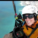 pink sky,paragliding womens