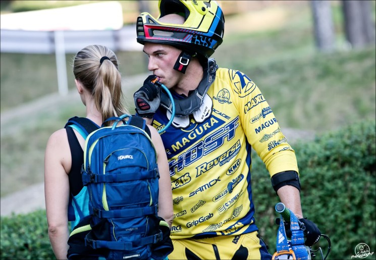 Slavik Hannes, SOURCE Whistler Hydration Pack - at his 4x World Cup Win in Poland