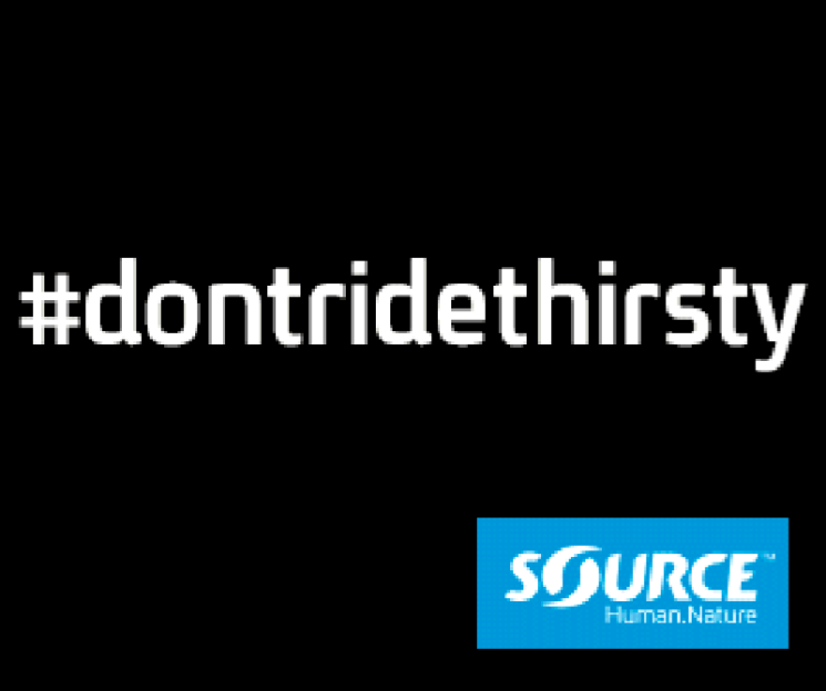 #dontridethirsty with SOURCE Hydration
