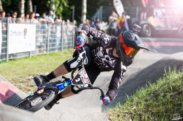 Pumptrack Gold For Hannes On His BMX Bike